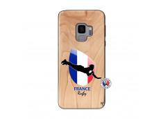 Coque Samsung Galaxy S9 Coupe du Monde de Rugby-France Bois Bamboo