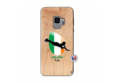Coque Samsung Galaxy S9 Coupe du Monde Rugby-Ireland Bois Bamboo