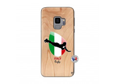 Coque Samsung Galaxy S9 Coupe du Monde Rugby-Italy Bois Bamboo