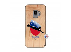 Coque Samsung Galaxy S9 Coupe du Monde Rugby-Samoa Bois Bamboo