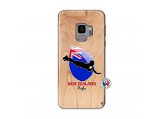 Coque Samsung Galaxy S9 Coupe du Monde Rugby- Nouvelle Zélande Bois Bamboo