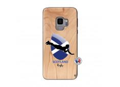 Coque Samsung Galaxy S9 Coupe du Monde Rugby-Scotland Bois Bamboo