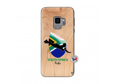 Coque Samsung Galaxy S9 Coupe du Monde Rugby-South Africa Bois Bamboo