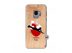 Coque Samsung Galaxy S9 Coupe du Monde Rugby-Tonga Bois Bamboo