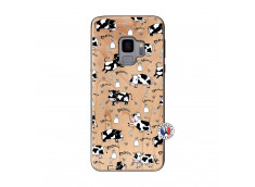 Coque Samsung Galaxy S9 Cow Pattern Bois Bamboo