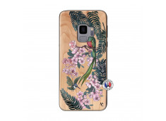 Coque Samsung Galaxy S9 Flower Birds Bois Bamboo