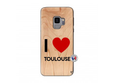 Coque Samsung Galaxy S9 I Love Toulouse Bois Bamboo