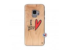 Coque Samsung Galaxy S9 I Love You Bois Bamboo