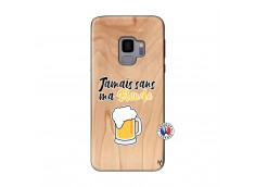 Coque Samsung Galaxy S9 Jamais Sans Ma Blonde Bois Bamboo
