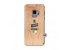 Coque Samsung Galaxy S9 Je Crains Degun Bois Bamboo
