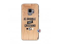 Coque Samsung Galaxy S9 Je Dribble Comme Cristiano Bois Bamboo