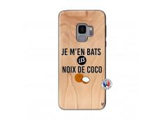 Coque Samsung Galaxy S9 Je m'en bats Les Noix De Coco Bois Bamboo