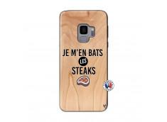 Coque Samsung Galaxy S9 Je M En Bas Les Steaks Bois Bamboo