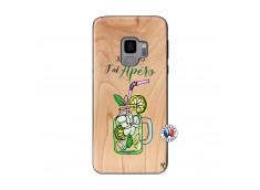 Coque Samsung Galaxy S9 Je peux pas J'ai Apéro Bois Bamboo