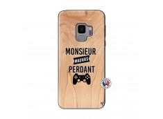 Coque Samsung Galaxy S9 Monsieur Mauvais Perdant Bois Bamboo