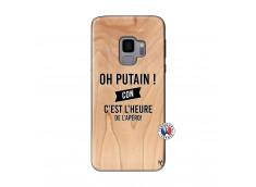 Coque Samsung Galaxy S9 Oh Putain C Est L Heure De L Apero Bois Bamboo