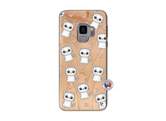Coque Samsung Galaxy S9 Petits Chats Bois Bamboo