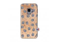 Coque Samsung Galaxy S9 Petits Hippos Bois Bamboo