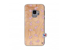 Coque Samsung Galaxy S9 Petits Moutons Bois Bamboo