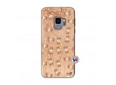 Coque Samsung Galaxy S9 Petits Renards Bois Bamboo
