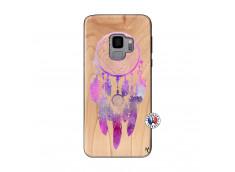Coque Samsung Galaxy S9 Purple Dreamcatcher Bois Bamboo
