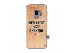 Coque Samsung Galaxy S9 Rien A Foot Allez Arsenal Bois Bamboo