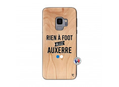 Coque Samsung Galaxy S9 Rien A Foot Allez Auxerre Bois Bamboo