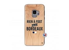 Coque Samsung Galaxy S9 Rien A Foot Allez Bordeaux Bois Bamboo