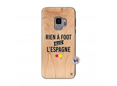 Coque Samsung Galaxy S9 Rien A Foot Allez L'Espagne Bois Bamboo