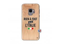 Coque Samsung Galaxy S9 Rien A Foot Allez L'Italie Bois Bamboo