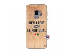 Coque Samsung Galaxy S9 Rien A Foot Allez Le Portugal Bois Bamboo