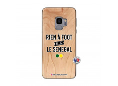 Coque Samsung Galaxy S9 Rien A Foot Allez Le Senegal Bois Bamboo