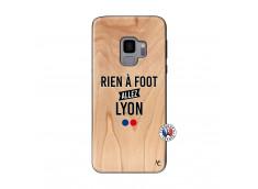Coque Samsung Galaxy S9 Rien A Foot Allez Lyon Bois Bamboo