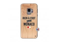 Coque Samsung Galaxy S9 Rien A Foot Allez Monaco Bois Bamboo