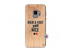 Coque Samsung Galaxy S9 Rien A Foot Allez Nice Bois Bamboo
