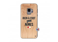 Coque Samsung Galaxy S9 Rien A Foot Allez Nimes Bois Bamboo