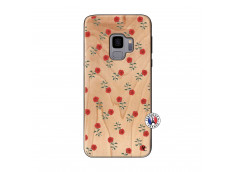 Coque Samsung Galaxy S9 Rose Pattern Bois Bamboo