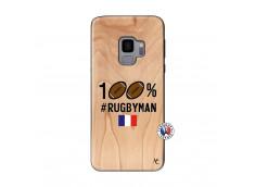 Coque Samsung Galaxy S9 100% Rugbyman Bois Bamboo