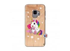 Coque Samsung Galaxy S9 Sweet Baby Licorne Bois Bamboo