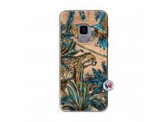 Coque Samsung Galaxy S9 Leopard Jungle Bois Bamboo