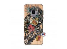 Coque Samsung Galaxy S9 Leopard Tree Bois Bamboo