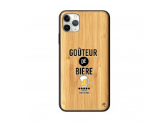 Coque iPhone 11 PRO MAX Goûteur de Bière Bois Bamboo