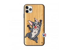 Coque iPhone 11 PRO MAX Dog Impact Bois Bamboo