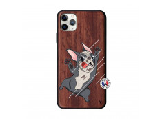 Coque iPhone 11 PRO MAX Dog Impact Bois Walnut