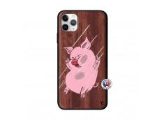 Coque iPhone 11 PRO MAX Pig Impact Bois Walnut