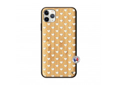Coque iPhone 11 PRO MAX Little Hearts Bois Bamboo