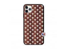 Coque iPhone 11 PRO MAX Little Hearts Bois Walnut
