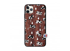 Coque iPhone 11 PRO MAX Cow Pattern Bois Walnut