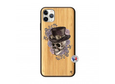 Coque iPhone 11 PRO MAX Dandy Skull Bois Bamboo