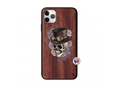 Coque iPhone 11 PRO MAX Dandy Skull Bois Walnut